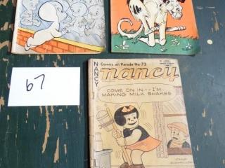 3 10-12 cent comic books CASPER NAPOLEON NANCY