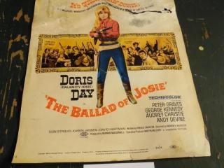 """VINTAGE DORIS DAY """"BALLAD OF JOSIE"""" MOVIE POSTER"""