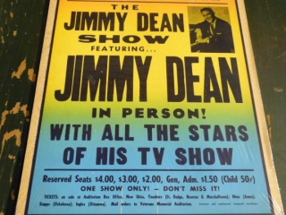 VINTAGE JIMMY DEAN SHOW POSTER