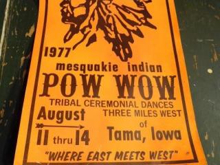 1977 VINTAGE MESQUAKIE INDIAN POW WOW POSTER