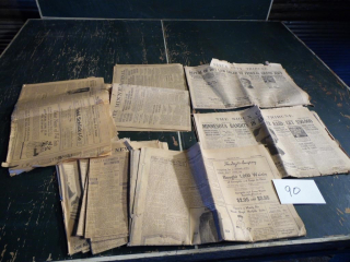 ANTIQUE NEWSPAPERS SIOUX CITY TWIN CITIES