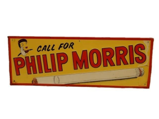 CALL FOR PHILIP MORRIS EMBOSSED SST SIGN