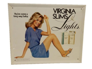 VIRGINIA SLIMS LIGHT CIGARETTES SST SIGN