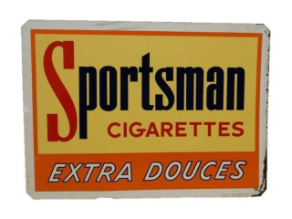 1956 SPORTSMAN CIGARETTES EXTRA SST SIGN