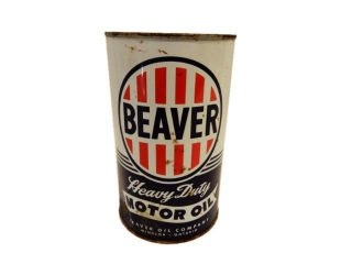 BEAVER HEAVY DUTY MOTOR OIL IMP. QT. CAN - FULL