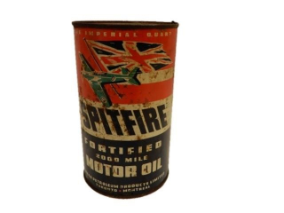 SPITFIRE FORTIFIED 2000 MILE MOTOR OIL IMP. QT.CAN