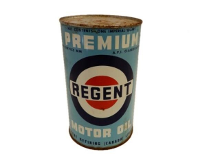 REGENT PREMIUM MOTOR OIL IMP. QT. CAN - FULL