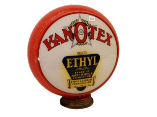 KANOTEX ETHYL GAS PUMP GLOBE/RED RIPPLE GLOBE BODY