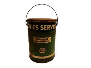 CITIES SERVICE TROJAN LUBRICANT 25 LBS. CAN