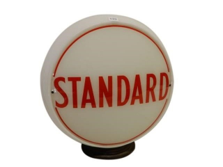 STANDARD MILK GLASS GAS PUMP GLOBE