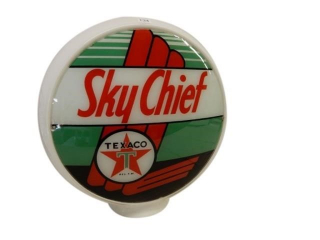 TEXACO SKY CHIEF MILK GLASS GAS PUMP GLOBE