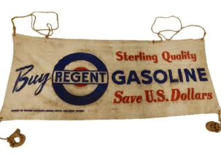 REGENT GASOLINE STERLING QUALITY CANVAS BANNER