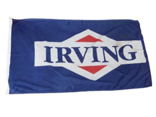 RARE IRVING OIL D/S SYNTHETIC BANNER