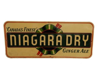 """""""CANADA'S FINEST"""" NIAGARA DRY"""" GINGERALE SST SIGN"""