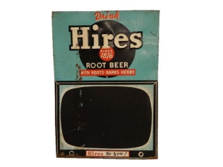 1955 HIRES ROOT BEER EMBOSSED SST CHALKBOARD