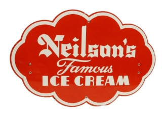 NEILSON'S FAMOUS ICE CREAM SSP DIECUT SIGN
