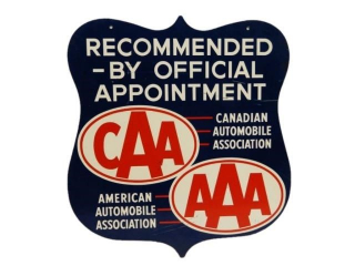"CAA AAA ""RECOMMENDED BY OFFICIAL APPOINTMENT"" SIGN"