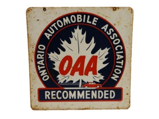 ONTARIO AUTOMOBILE ASSOCIATION RECOMMENDED SIGN