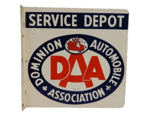 1979 DOMINION AUTOMOBILE ASSOCIATION METAL FLANGE