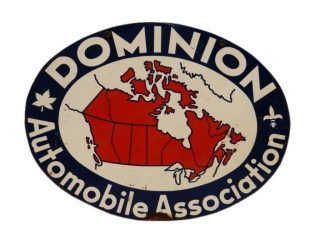 DOMINION AUTOMOBILE ASSOCIATION D/S METAL SIGN