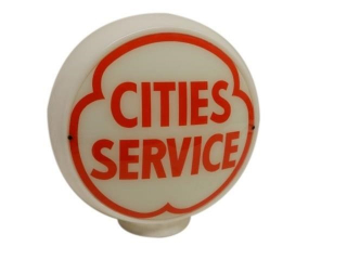 CITIES SERVICE CANADIAN MILK GLASS GAS PUMP GLOBE