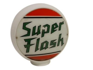 CANADIAN SUPER FLASH MILK GLASS GAS PUMP GLOBE