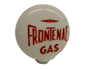 FRONTENAC MILK GLASS GAS PUMP GLOBE
