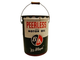 1959 B/A PEERLESS MOTOR OIL FIVE IMP. GAL. CAN
