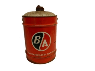 B/A (GREEN/RED) FIVE IMPERIAL GALLONS CAN