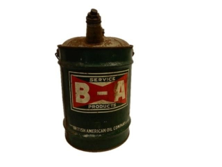 B-A  (BOWTIE) SERVICE FIVE IMPERIAL GALLONS CAN