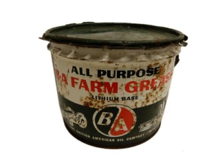 B/A ( GREEN/RED) FARM GREASE 25 LBS. PAIL/ LID