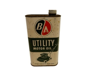B/A (GREEN/RED) OUTBOARD  MOTOR OIL IMP. QT. CAN