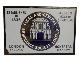 ASSURANCE SOCIETY LIMITED LEGAL-AND-GENERAL SIGN