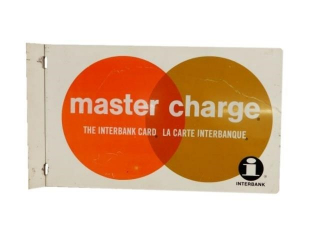 "MASTER CHARGE ""INTERBANK CARD"" ALUMINUM FLANGE"
