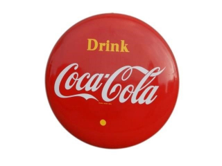 "1955 DRINK COCA-COLA 48"" BUTTON"