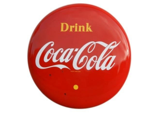"195O'S  DRINK COCA-COLA 48"" BUTTON"