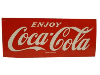 ENJOY COCA-COLA SST EMBOSSED SIGN