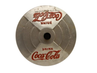 DRINK COCA-COLA EMBOSSED METAL BASE