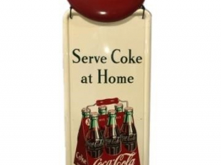 "RARE COCA-COLA ""SERVE COKE AT HOME"" SST SIGN"