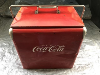 Original Coca-Cola cooler from the 1950's
