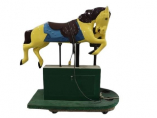 COIN OPERATED KID'S RIDE ON HORSE RIDE-WORKING