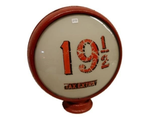 19 1/2 TAX EXTRA GAS PUMP GLOBE- ONE LENSE ONLY