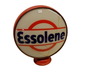 ESSOLENE GAS PUMP GLOBE - ONE LENSE ONLY