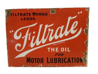 "FILTRATE ""OIL FOR MOTOR LUBRICATIONS"" DSP SIGN"