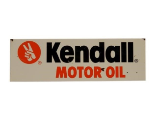 KENDALL MOTOR OIL S/S PAINTED METAL RACK TOPPER