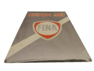 FINA SUPER 100 S/S ALUMINUM SIGN