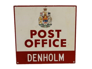 POST OFFICE DENHOLM ONTARIO S/S ALUMINUM SIGN