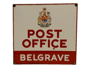 POST OFFICE BELGRAVE ONTARIO DSP SIGN