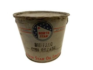 RARE NORTH STAR BUFFALO GUN GREASE 10 POUNDS PAIL