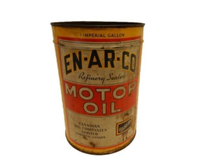 EN-AR-CO MOTOR OIL IMPERIAL GAL. CAN - NO LID
